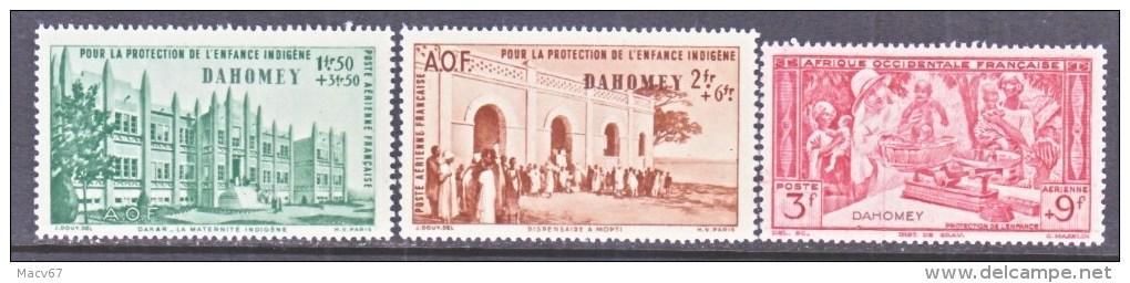 DAHOMEY     CB  1-3    **    VICHY - Dahomey (1899-1944)