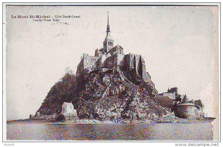 50. LE MONT SAINT MICHEL . COTE NORD OUEST . NORTH WEST SIDE . - Le Mont Saint Michel
