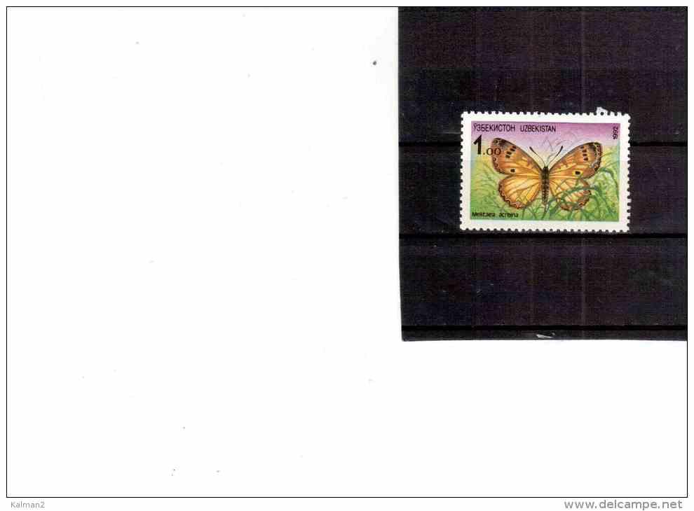 XX1366   -  UZBEKISTAN   -   FARFALLA ** MNH  /  CAT.UNIFICATO NR. 2 - Uzbekistan