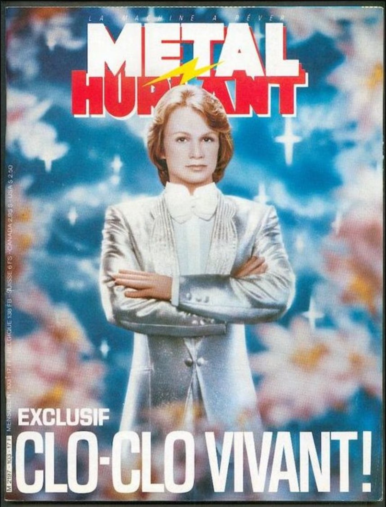 No PAYPAL !! : Metal Hurlant 103 CLO-CLO VIVANT ( Claude François ),Floch Caro Schuiten Andreas Yves Chaland Pirus 1984 - Métal Hurlant