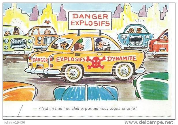1993 - C'EST UN BON TRUC CHERIE, PARTOUT NOUS AVONS PRIORITE ! ( Déssin:  BOZZ ) - Illustrateurs & Photographes