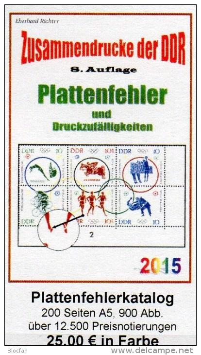 Part 4 RICHTER Katalog Abarten+PF In Zusammendrucke DDR 2015 New 25€ Abart Varianten Se-tenant Special Catalogue Germany - Holandés