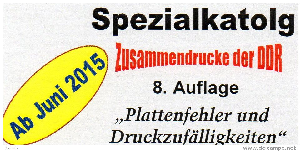 RICHTER Part 4 DDR Katalog Abarten+PF In Zusammendrucke 2015 New 25€ Varianten PF Se-tenant Special Catalogue Of Germany - Other Collections