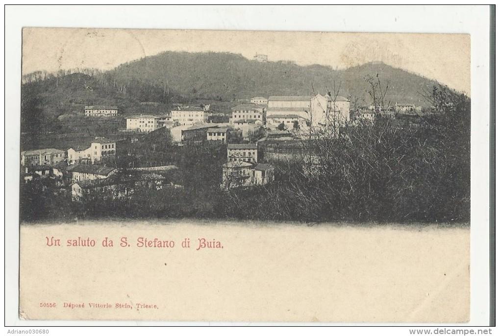 90389 Carta Scollata Un Saluto Da Santo Stefano Di Buia Buja - Udine