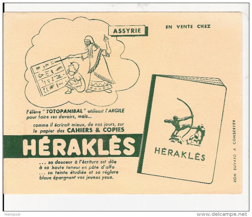 BUVARD  PUBILICITE  POUR  CAHIER   HERAKLES   ( A SSYRIE ) - Lots & Serien