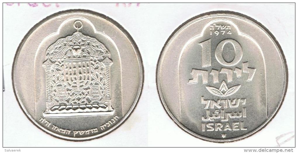 ISRAEL 10 LIROT 1974 PLATA SILVER B62 - Israel