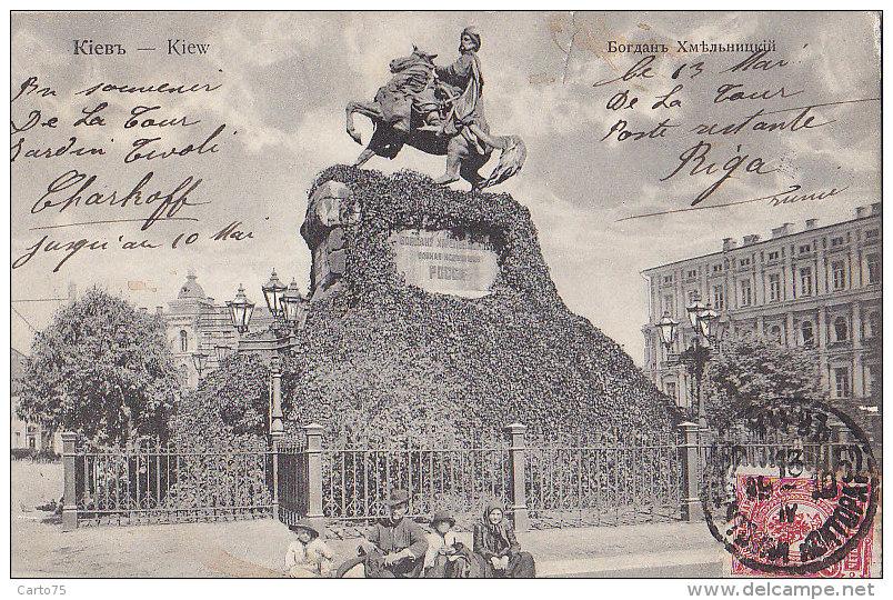 Ukraine - Kiew Kiev - Statue Equestre Bogdan Khmelnytsky - Jardin Tivoli Kharkov - Ukraine