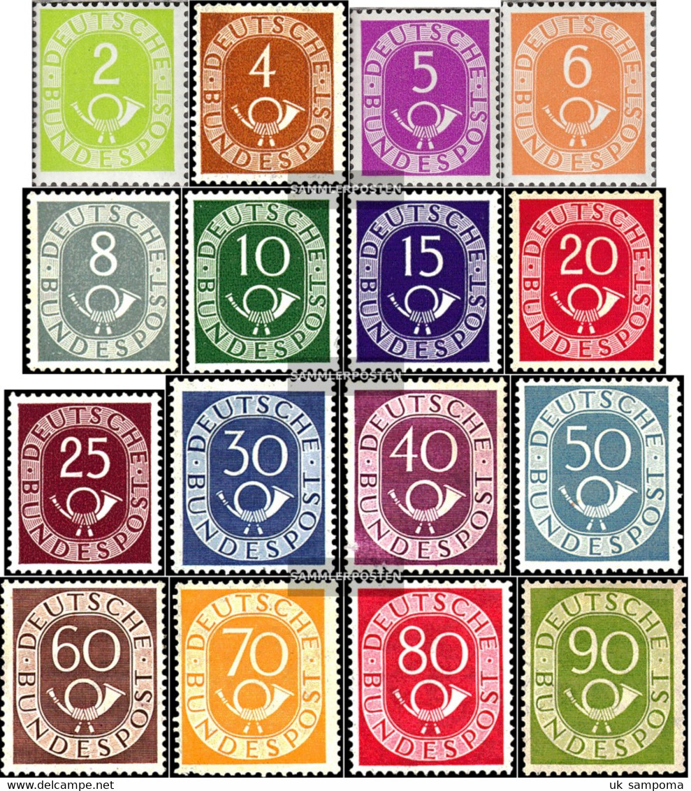 FRD (FR.Germany) 123-138 (complete Issue) Unmounted Mint / Never Hinged 1951 Horn - Unused Stamps