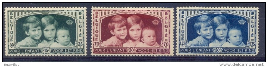 Belgie - 1934 - OBP -  * 404/06 - Koningskinderen * Spoor Van Plakker - Unused Stamps