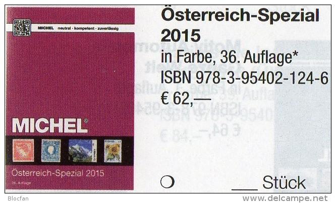 Spezial Katalog 2015 MICHEL Briefmarken Österreich Neu 62€ Bosnien Lombardei Venetien Special Catalogue Stamp Of Austria - Alte Papiere