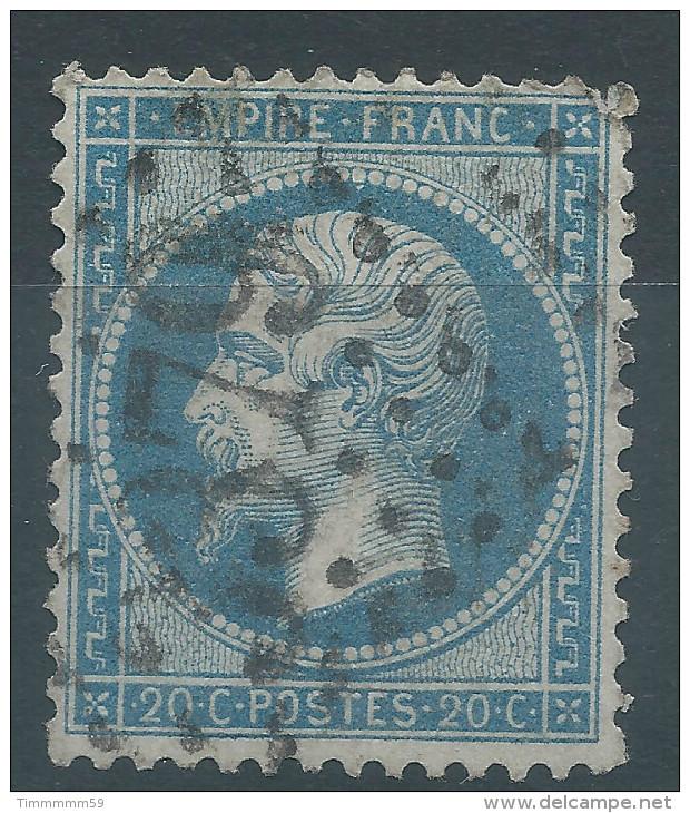 Lot N°29587   N°22, Oblit GC 3379 SENS-S-YONNE (83) - 1862 Napoleon III