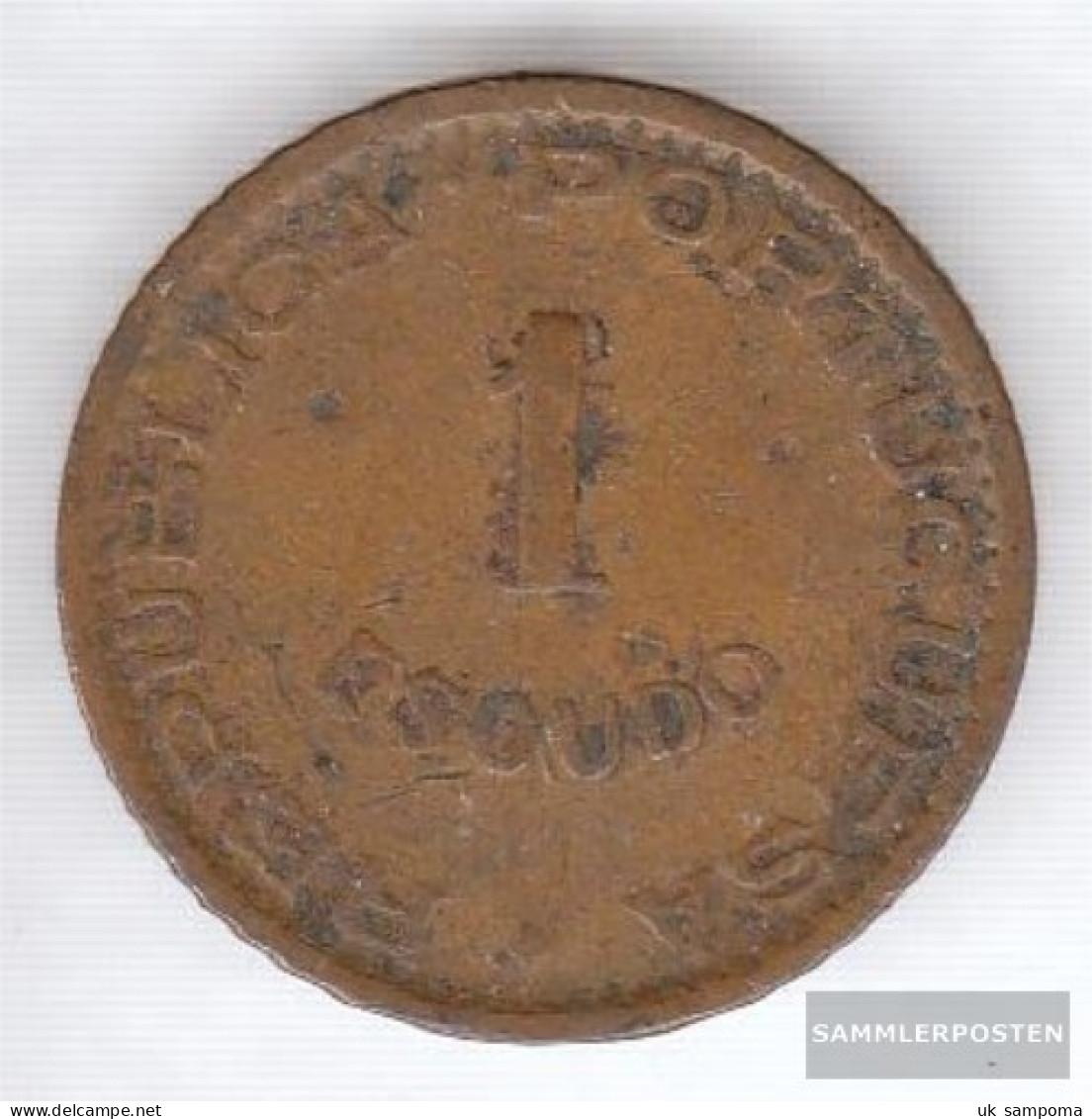 Angola 76 1963 Very Fine Bronze Very Fine 1963 1 Escudo Crest - Angola