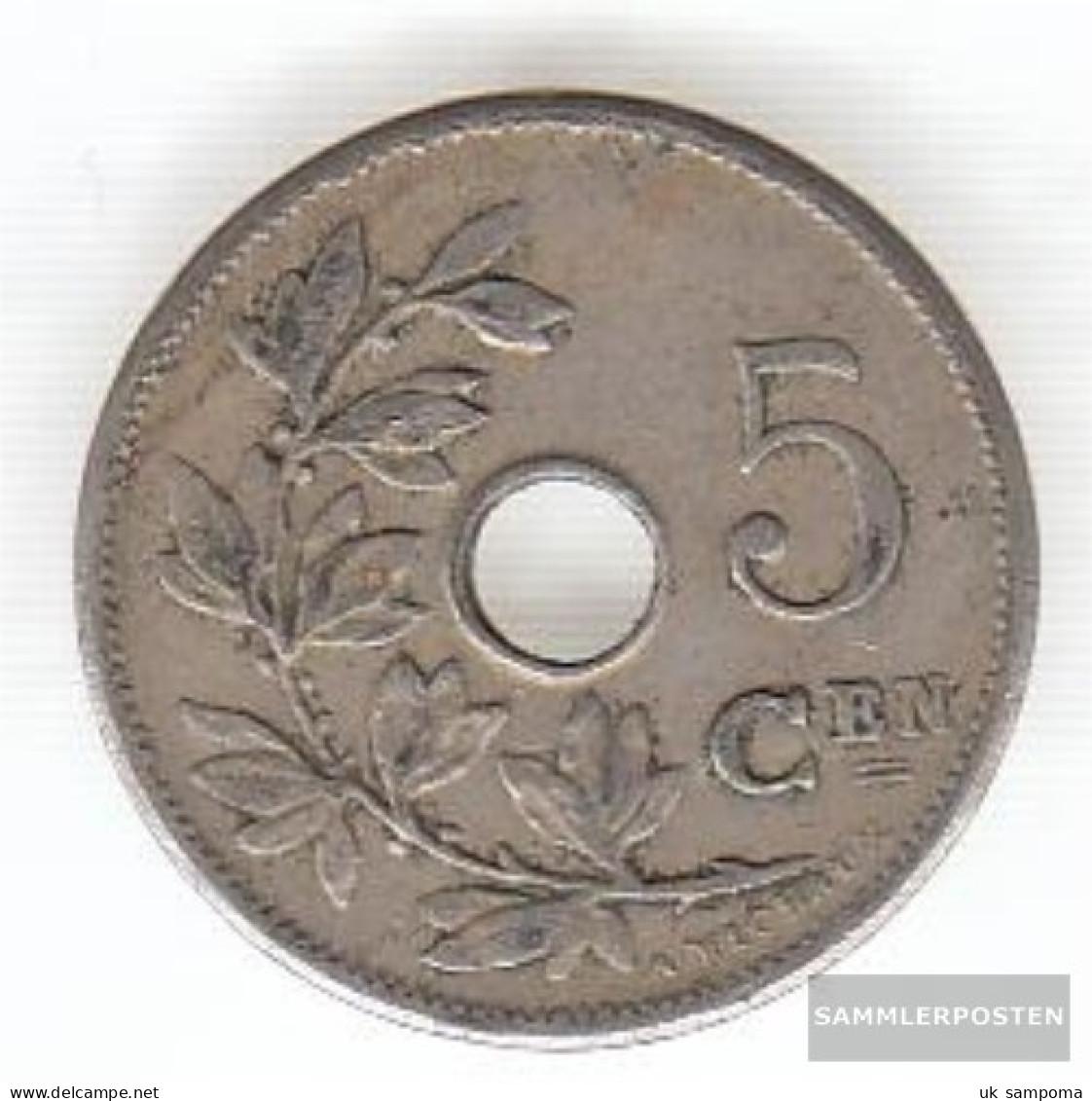 Belgium Km-number. : 55 1906 Very Fine Copper-Nickel Very Fine 1906 5 Centimes Gekröntes Monogram - 03. 5 Centimes