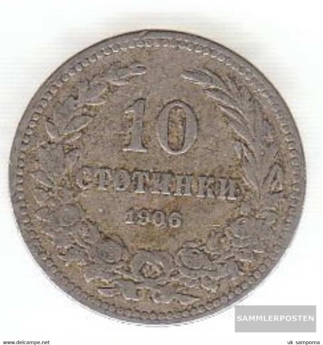 Bulgaria Km-number. : 25 1913 Extremely Fine Copper-Nickel Extremely Fine 1913 10 Stotinki Crest - Bulgaria