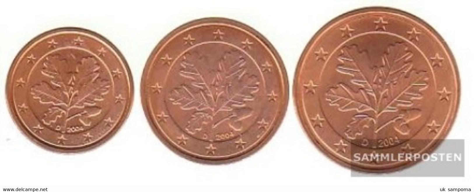 FRD (FR.Germany) D1 - 3 2004 D Stgl./unzirkuliert Stgl./unzirkuliert 2004 Kursmünze 1, 2 And 5 Cent - Germany