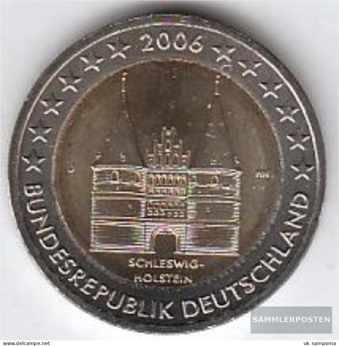 FRD (FR.Germany) Jägernr: 519 2006 J Stgl./unzirkuliert Stgl./unzirkuliert 2006 2 Euro Holstentor Lübeck - Germany