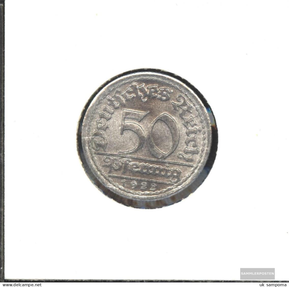 German Empire Jägernr: 301 1921 F Extremely Fine Aluminum Extremely Fine 1921 50 Pfennig Ährengarbe - 50 Rentenpfennig & 50 Reichspfennig