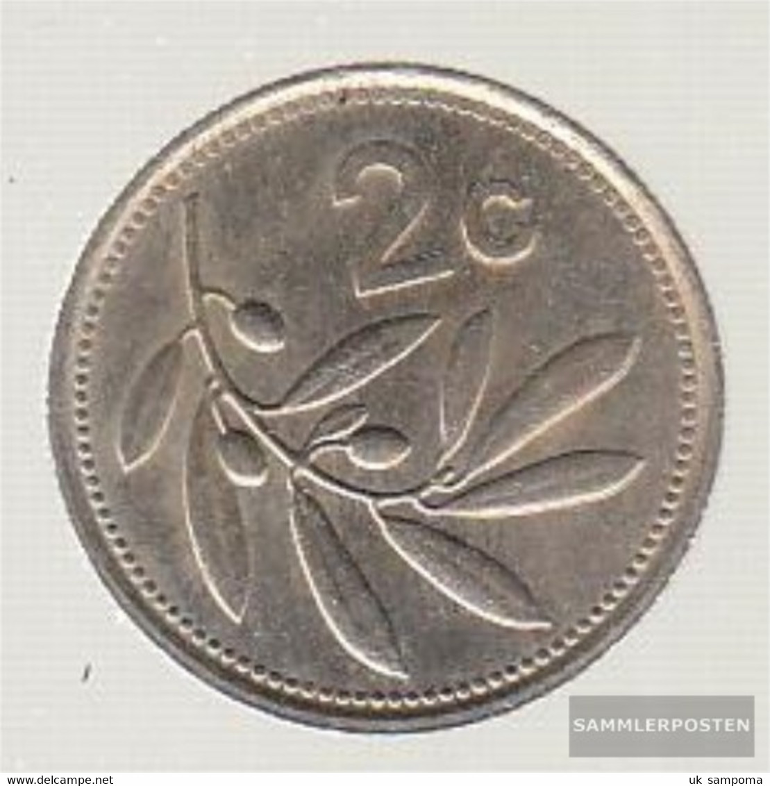 Malta Km-number. : 79 1986 Very Fine Copper-Nickel Very Fine 1986 2 Cent Emblem - Malta
