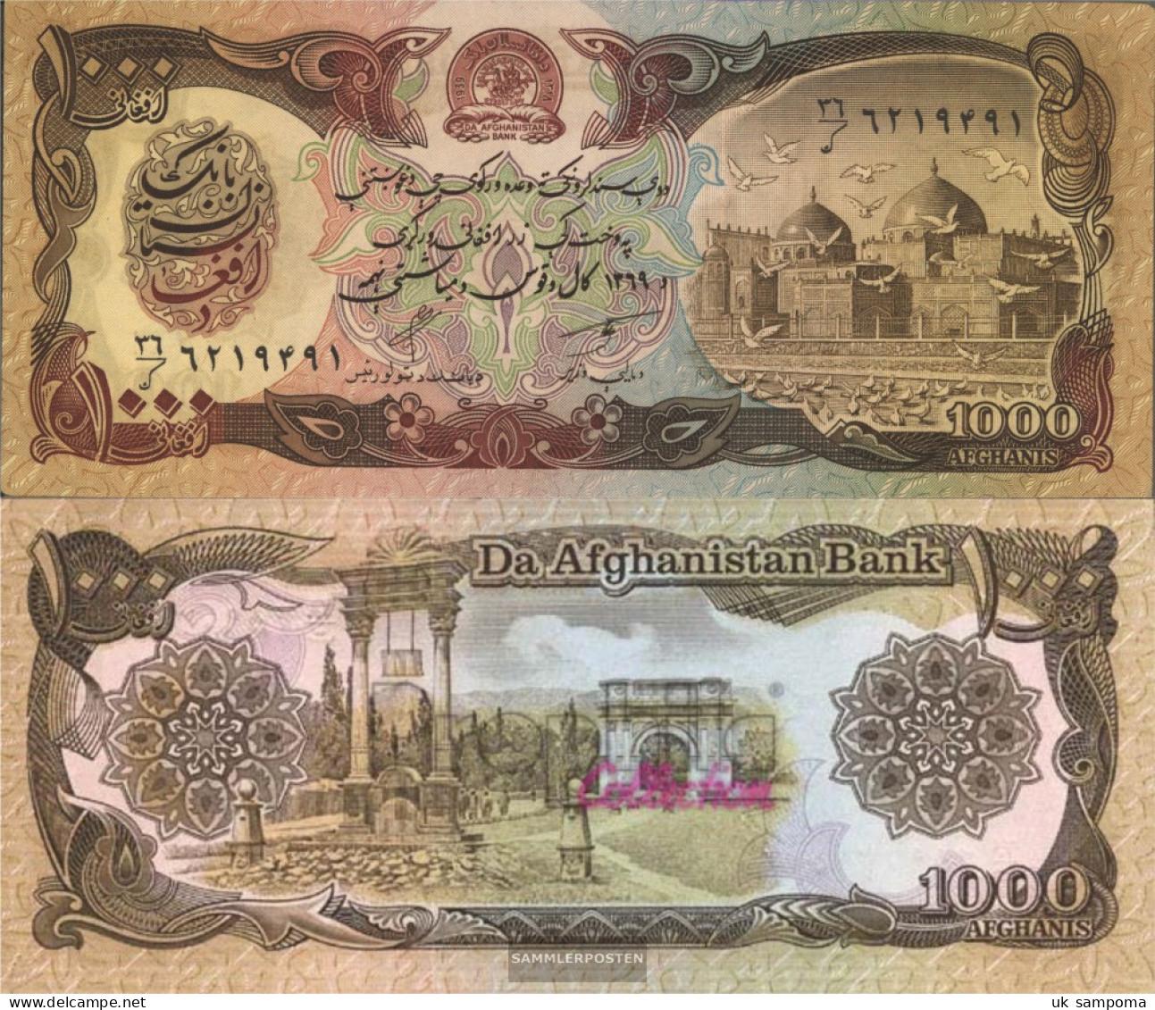 Afghanistan Pick-number: 61b Uncirculated 1990 1.000 Afghanis - Afghanistan