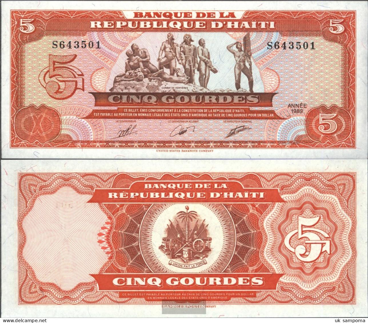 Haiti Pick-number: 255a Uncirculated 1989 5 Gourdes - Haiti