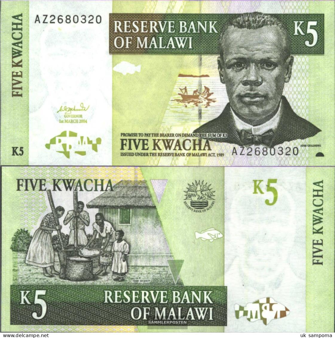 Malawi Pick-number: 36b Uncirculated 2004 5 Kwacha - Malawi