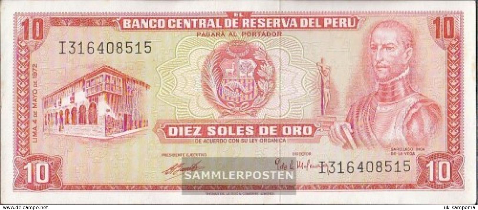 Peru Pick-number: 100c (1972) Uncirculated 1972 10 Soles - Peru