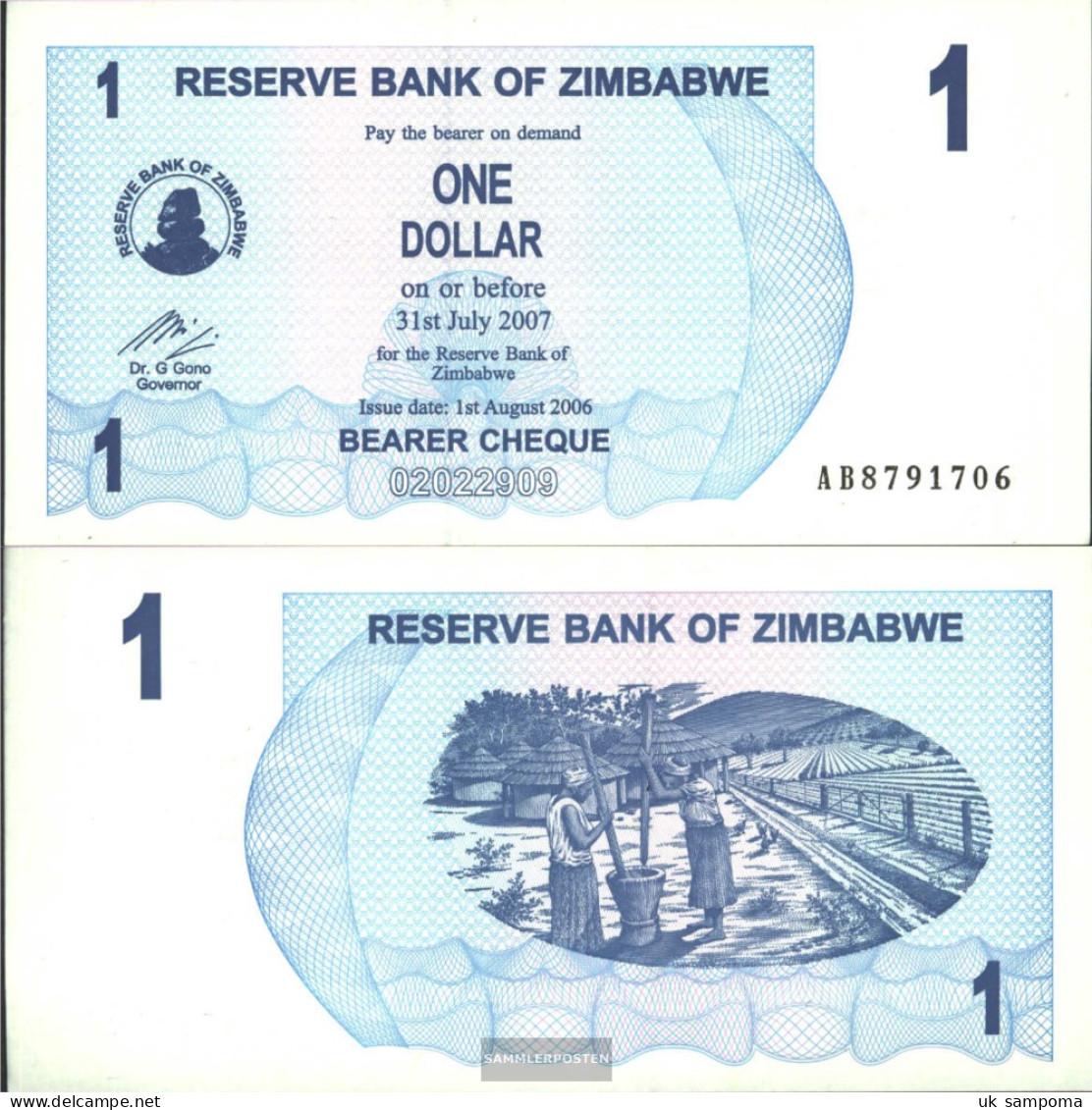 Zimbabwe Pick-number: 37 Uncirculated 2006 1 US Dollars - Zimbabwe