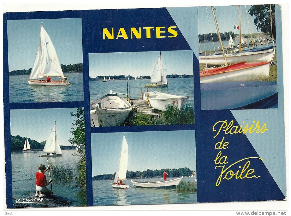 44  NANTES    LES  PLAISIRS  DE  LA  VOILE   TOUTES  VOILES  DEHORS - Nantes