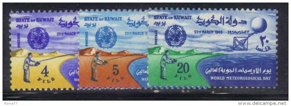 W1137a - KUWAIT 1965 , Yvert 257/259 *** MNH Meteorologia - Kuwait