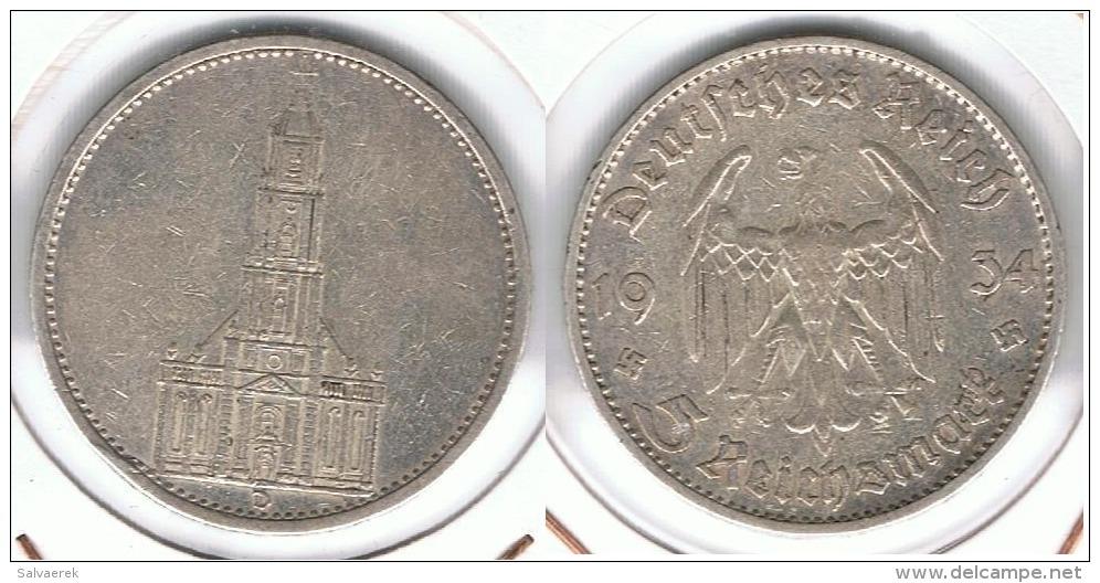 ALEMANIA DEUTSCHES REICH 5 MARK 1934 D  PLATA SILBER. D35 - [ 4] 1933-1945 : Tercer Reich