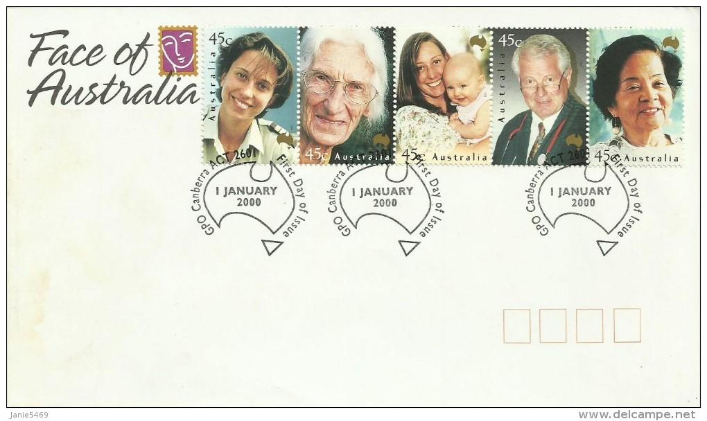 Australia 2000  Faces Of Australia FDC - FDC
