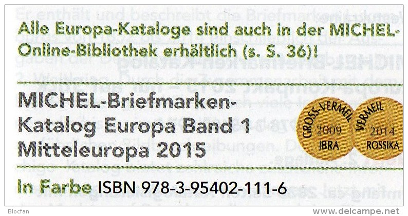 Mittel-/Süd-Europa Katalog 2015/2016 Neu 132€ MICHEL Band 1+3 A UN CH Genf Wien CZ CSR HU Italy Fiume Jugoslavia Vatikan - Literatur & Software