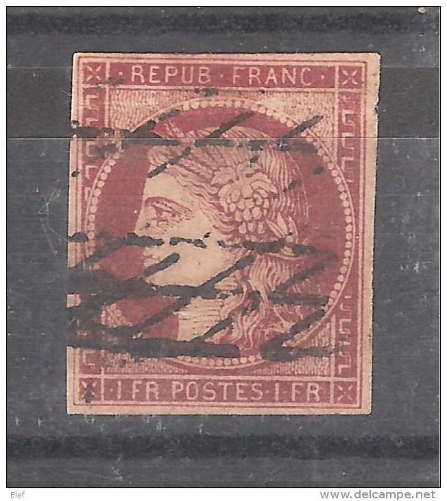 France, CERES N° 6  , Belle Nuance Obl GRILLE SANS FIN , TB !!!!!! - 1849-1850 Ceres