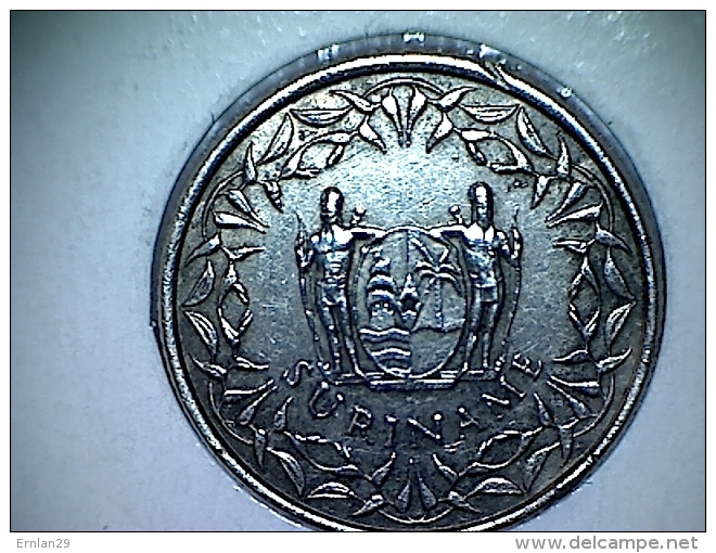 Suriname 25 Cent 1976 ( Bord Abimé ) - Surinam 1975 - ...