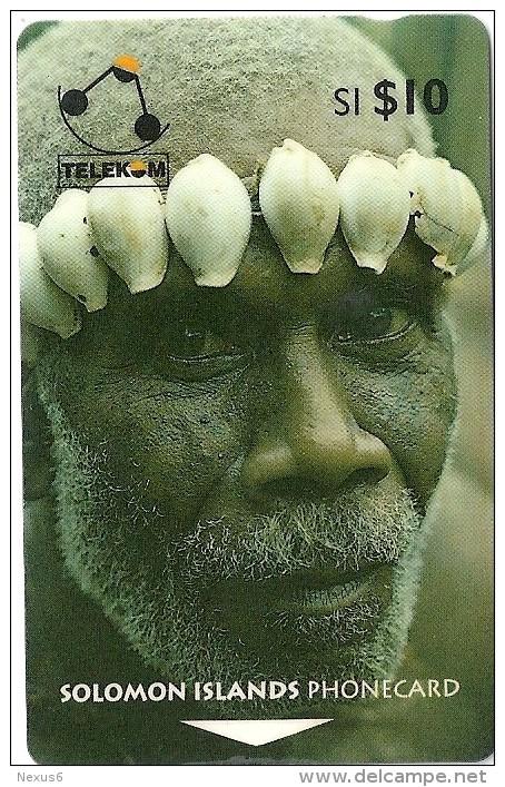 Solomon - Solomon Tel. - GPT - SOL-05 - 02SIC (Letter C) - Man From Turarana, 10$, Used - Isole Salomon