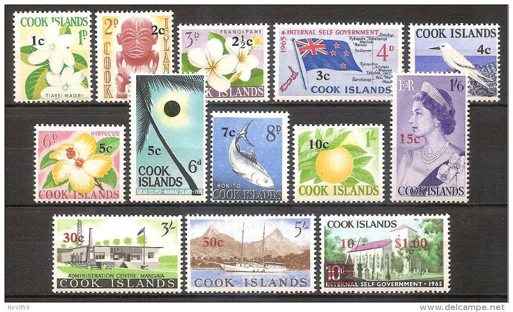 Cook Islands 1967 - Surcharged Set - Cook Islands
