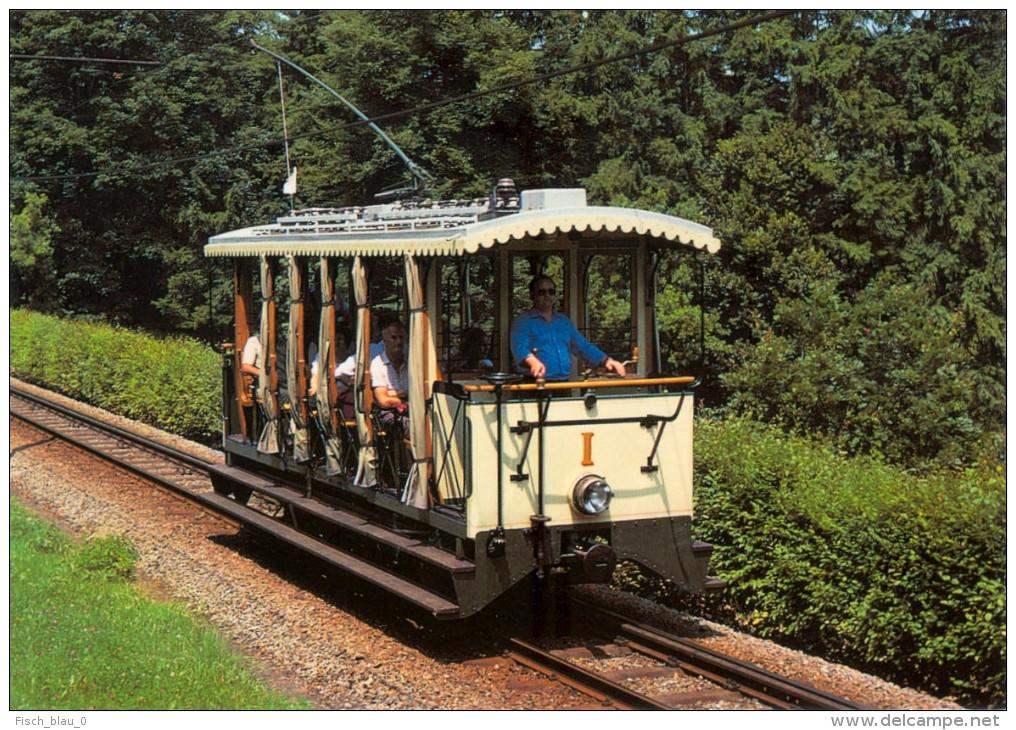 AK Eisenbahn OÖ Pöstlingbergbahn Linz-Urfahr Sommertriebwagen 1987 Bahnladen ESG Grazer Waggonfabrik Österreich Austria - Trains