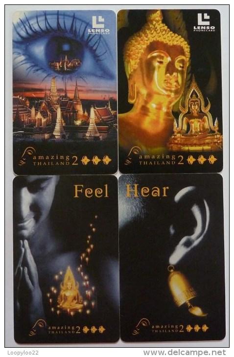 THAILAND - Chip - Set Of 4 -  Lenso - Hear Feel... - Used - Thaïlande