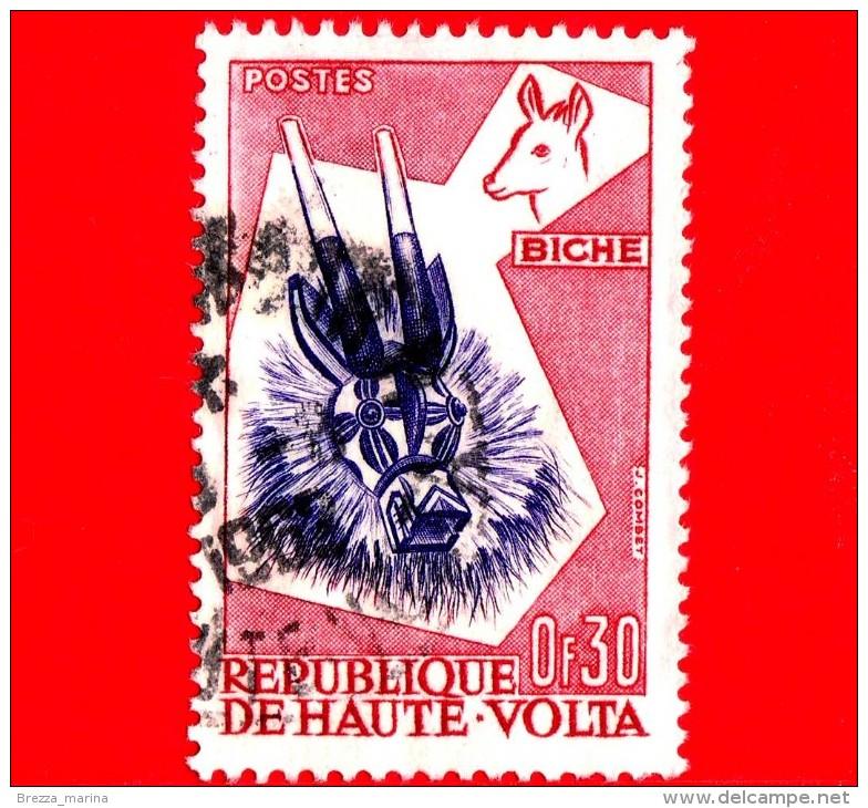 ALTO VOLTA - Usato - 1960 - Arte Tribale Dell'etnia Bobo - Maschere Di Animali - Cervo - Duiker - 0.30 - Upper Volta (1958-1984)