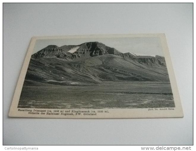 GROENLANDIA GRONLAND BASALTBERG IVISSUSSET UND KINGITOARSUK SUDSEITE DER HALBINSEL NUGSUAK NW. GRONLAND - Groenlandia