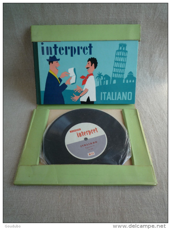Guide Interprète VISAPHONE Italien Italiano éditions Witte 1956 Belles Illustrations De J.Neumeister. 19 Photos - Audio Books