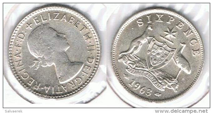AUSTRALIA 6 PENCE 1963 PLATA SILVER - Sin Clasificación