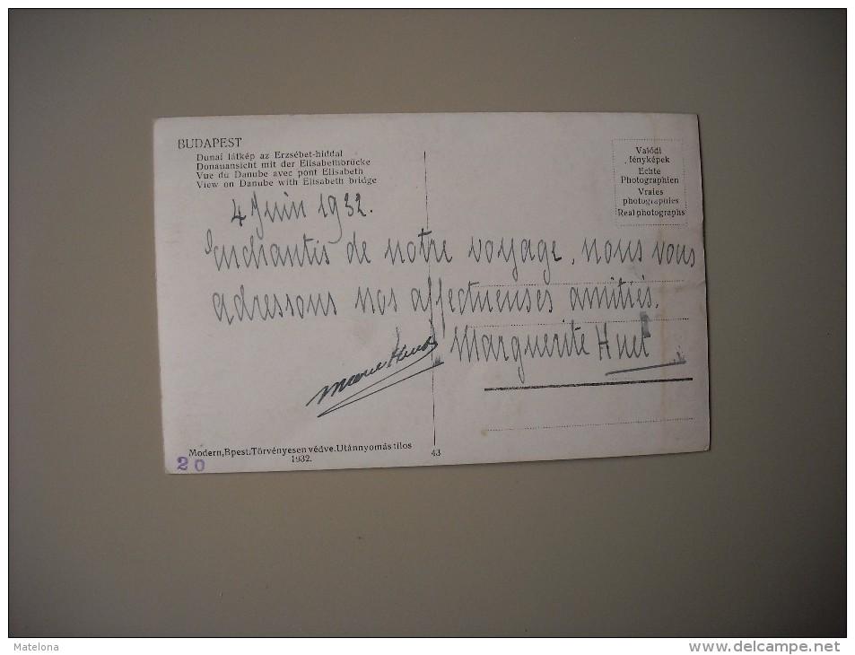 HONGRIE BUDAPEST VUE DU DANUBE AVEC PONT ELISABETH - Hungary