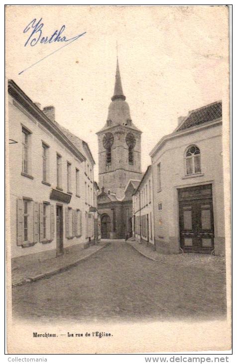 1 CP  Merchtem   Kerkstraat      1905 - Merchtem