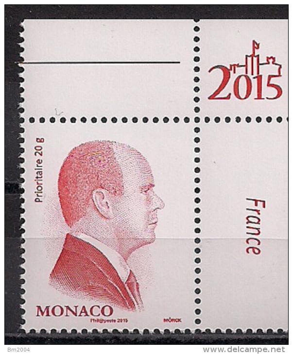 2015 Monaco  Mi. 3110 II **MNH   Fürst Albert II - Monaco