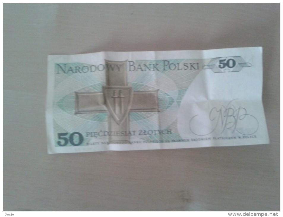 Bank Polski 50 Zlotych 1988 - Billets