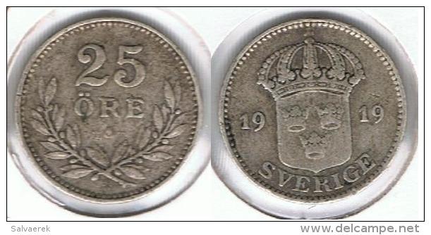 SUECIA 25 ORE 1919 PLATA SILVER E1 - Suecia