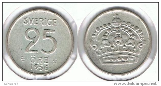 SUECIA 25 ORE 1956 PLATA SILVER E1 - Suecia