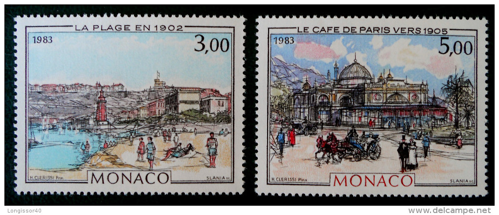 "MONTE CARLO & MONACO A ""LA BELLE EPOQUE"" 1983 - NEUFS ** - YT 1385/86 - MI 1589/90 - Monaco"