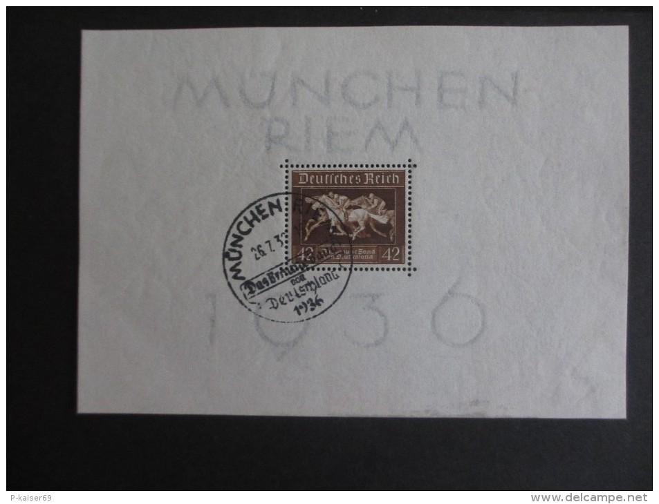 """Deutsches Reich 1936, 22, Juni, Blockausgabe: Galopprennen """"das Braune Band Von Deutschland"""" - Deutschland"""